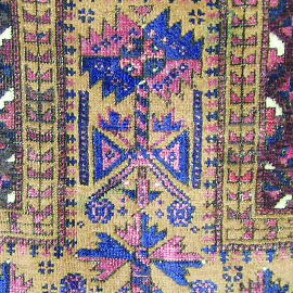 Code,4067 North East Of Iran,Khorasan area,Baluch tribs,wool on wool base,all natural colors,Partly repaired